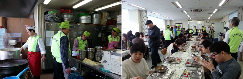 인천중부서시민경찰 자장면 행사 단체봉사활동